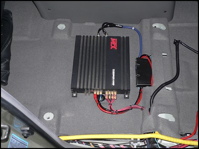 How to install subwoofer amplifier